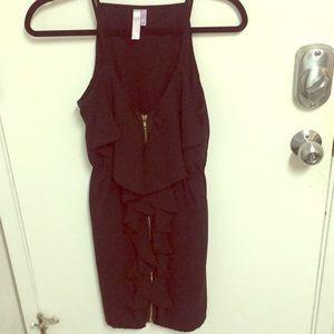 Boutique front zipper dress.